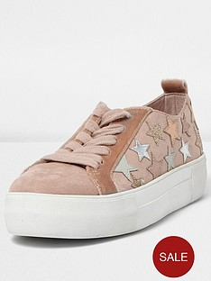 river-island-stars-lace-up-trainer-pink