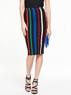 v-by-very-stripe-ponte-pencil-skirt