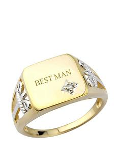 keepsafe-keepsafe-silver-amp-9ct-yellow-gold-plate-amp-diamond-signet-ring