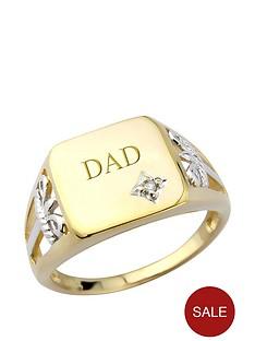 keepsafe-keepsafe-silver-amp-9ct-yellow-gold-plate-amp-diamond-signet-ring
