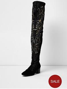 river-island-velvet-embroidered-boot-black