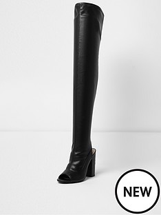 river-island-petch-over-the-knee-peep-toe-boot-black