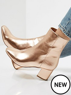 river-island-sock-ankle-boot-rose-gold