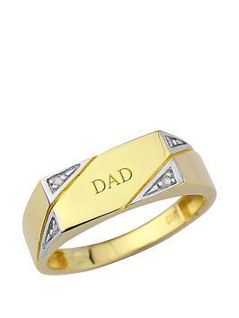 keepsafe-keepsafe-personalised-9-carat-yellow-gold-diamond-set-mens-ring