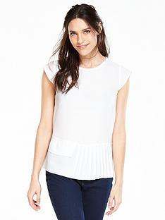 v-by-very-pleat-hem-short-sleeve-blousenbsp