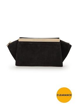 phase-eight-ella-suede-clutch-bag-black