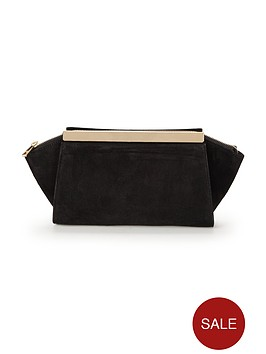 phase-eight-ella-suede-clutch-bag-black
