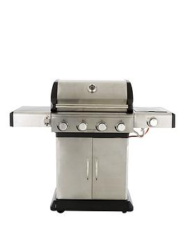 Premium 4 Burner With Side &Amp Cooking Grill System