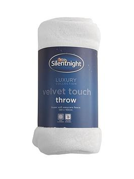 silentnight-hazel-velvet-touch-throw-in-white