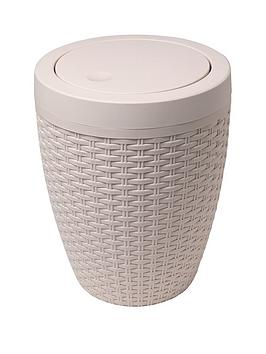 Addis Addis Faux Rattan Swing Lid Bathroom Bin Picture