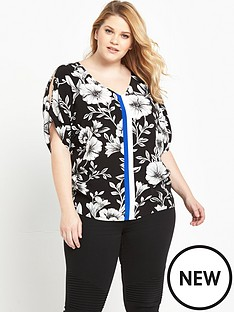 so-fabulous-curve-cold-shoulder-printed-blouse