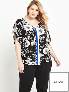 v-by-very-curve-curve-cold-shoulder-printed-blouse