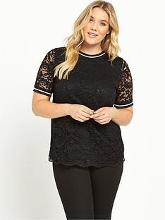 so-fabulous-curve-rib-trim-lace-t-shirt-black
