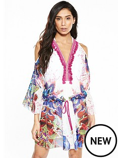 forever-unique-dominica-cold-shoulder-kaftan