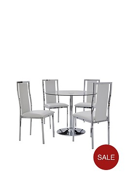 havana-95-cm-glass-and-chrome-round-dining-table-4-atlantic-chairs-buy-and-save