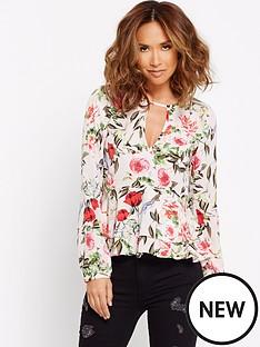 myleene-klass-dip-hem-floral-blouse