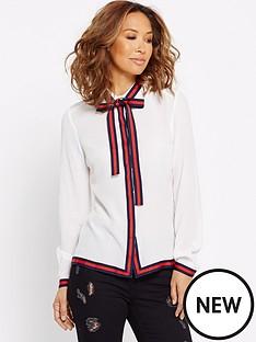 myleene-klass-tape-trim-button-blouse