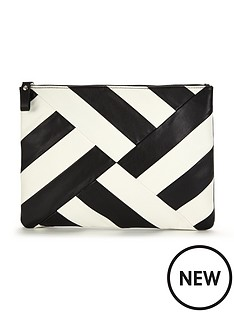 v-by-very-mono-patchwork-spiral-clutch
