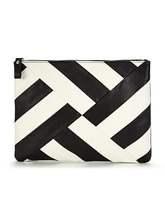 v-by-very-striped-zip-top-clutch-bag
