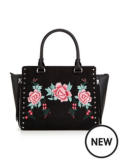 v-by-very-flower-embroidered-amp-stud-detail-winged-tote-bagnbsp