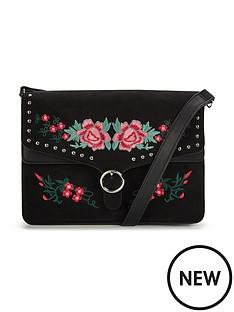 v-by-very-flower-embroidered-amp-stud-detail-crossbodynbspbag-blacknbsp