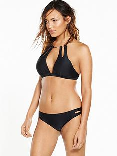 south-beach-metal-collar-bikini-set