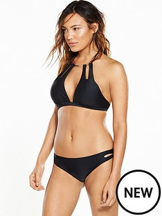 south-beach-south-beach-metal-collar-bikini-set