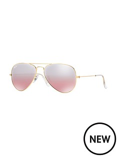 ray-ban-gradient-mirror-lense-aviator-sunglasses