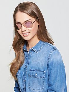 ray-ban-mirror-lensnbsprimless-aviator-sunglasses-gold