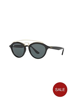 ray-ban-raised-bar-clubround-sunglasses-blackgold