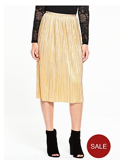 v-by-very-metallic-plissenbspmidi-skirt