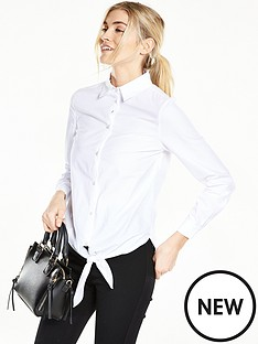 v-by-very-tie-front-cotton-shirt