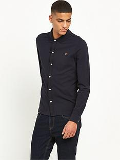 farah-jenkins-long-sleeve-tipped-pique-shirt