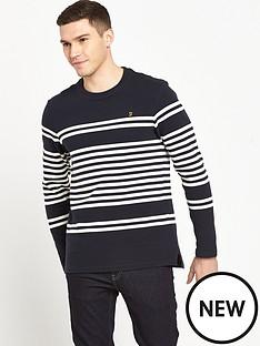 farah-branson-long-sleeve-texture-stripe-t-shirt