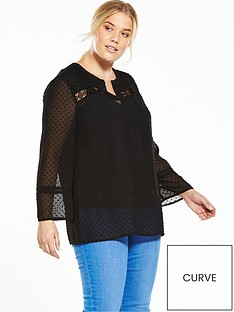 v-by-very-curve-crochet-trim-dobby-blouse