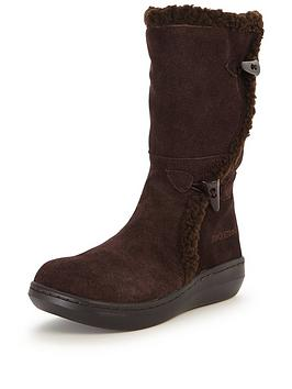 Rocket Dog Slope Shearling Lined Calf Boots  Chocolate
