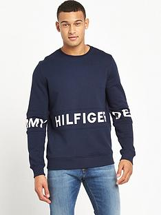 hilfiger-denim-text-logo-crew-sweatshirt