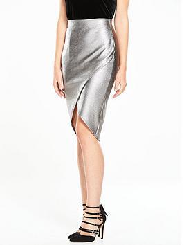 v-by-very-metallic-wrap-skirt