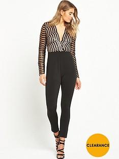 rare-sequin-lace-wrap-jumpsuit-black