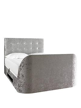 Very Scarpa Fabric Lift-Up Storage Tv Bed Frame With Mattress Options (Buy  ... Picture