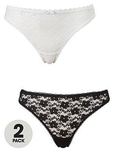 dorina-sonia-2-pack-lace-thong-blackwhite