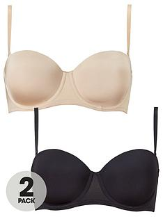 dorina-bandeau-multiway-2-pack-bra-blacknude