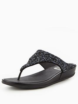 Fitflop Banda Roxy Sandal  Black