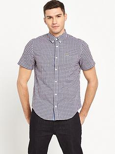 lacoste-sportswear-short-sleeve-poplin-checked-shirt