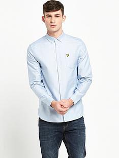 lyle-scott-long-sleeve-oxford-shirt-riviera-blue