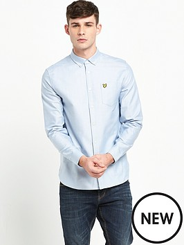 lyle-scott-long-sleeve-oxford-shirt-riviera-blue