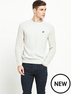lyle-scott-rib-sleeve-jumper
