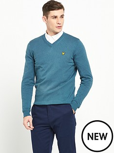 lyle-scott-v-neck-cotton-merino-jumper