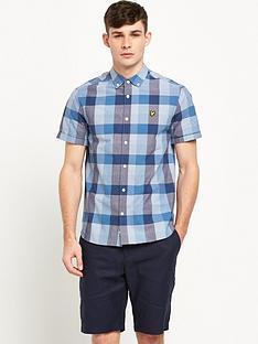 lyle-scott-short-sleeve-check-shirt