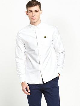 lyle-scott-long-sleeve-oxford-shirt-white